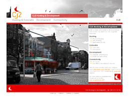 Screenshot van website CJ2 Hosting