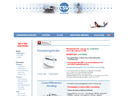 Screenshot van website CSV Networks