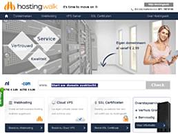 Screenshot van website Hostingwalk