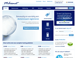 Screenshot van website Mihosnet