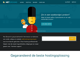 Screenshot van website Net Ground