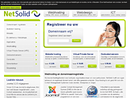 Screenshot van website NetSolid