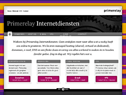 Screenshot van website Primerelay
