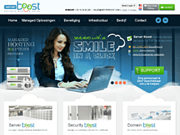 Screenshot van website Server Boost