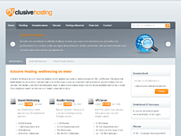 Screenshot van website Xclusive Hosting