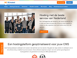 Screenshot van website XLhosted